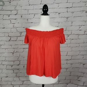 Talula Bright Red Off the Shoulder Top